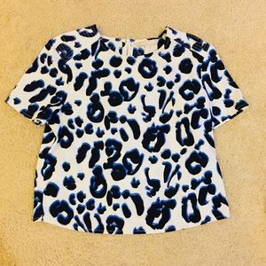 Banana Republic Animal Print Blouse